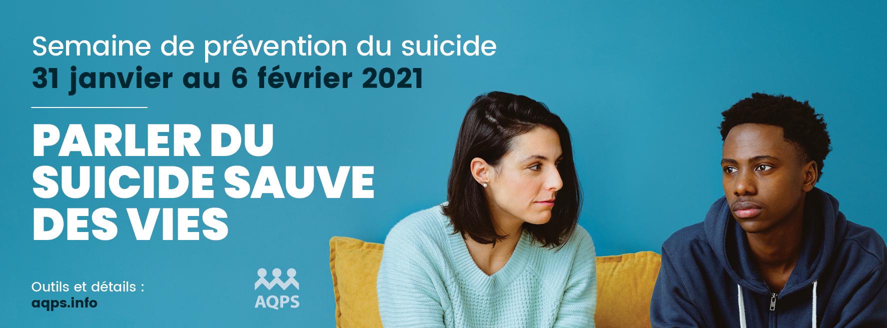 Semaine de prévention du suicide (31 janvier au 6 février 2021)